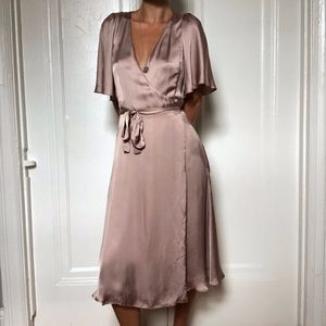 Wilfred Nadine Silk Wrap Dress